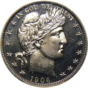 1906 Ngc PF66 Barber Half Dollar