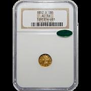 1852-D Ngc/Cac AU58 Gold Dollar