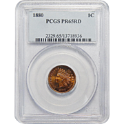 1880 Pcgs PR65RD Indian Head Cent
