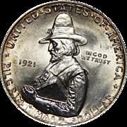 1921 Anacs MS63 Pilgrim Half Dollar