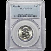 1944-D Pcgs MS65 Washington Quarter
