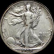 1938-D Anacs XF40 Walking Liberty Half Dollar