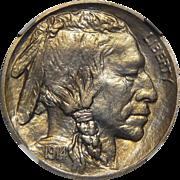 1914 Ngc PF67 Buffalo Nickel
