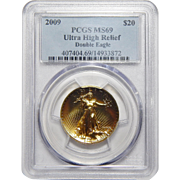 2009 Pcgs MS69 $20 Ultra High Relief Double Eagle