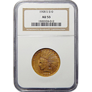 1908-S Ngc AU53 $10 Indian Gold