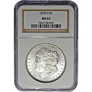 1878-S Ngc MS63 Morgan Dollar