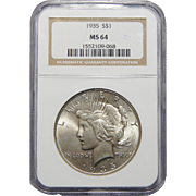1935 Ngc MS64 Morgan Dollar