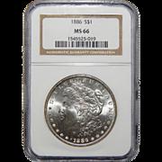 1886 Ngc MS66 Morgan Dollar
