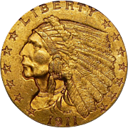 1911 Pcgs MS65 $2.50 Indian Gold