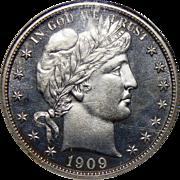 1909 Ngc/Cac PF64CAM Barber Half Dollar