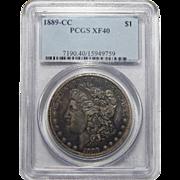 1889-CC Pcgs XF40 Morgan Dollar