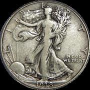 1938-D Pcgs VF30 Walking Liberty Half Dollar