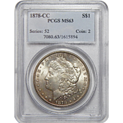 1878-CC Pcgs MS63 Morgan Dollar