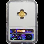 1849-O Ngc MS61 Gold Dollar
