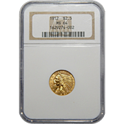 1912 Ngc MS64 $2.50 Indian Gold