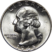 1945-S Ngc MS65 Washington Quarter