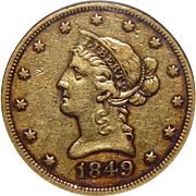 1849 Ngc XF40 $10 Liberty Head Gold