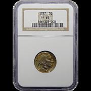 1937 Ngc PF65 Buffalo Nickel