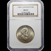 1936-S Ngc MS63 Cincinnati Half Dollar