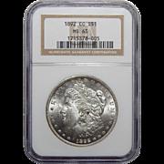 1892-CC Ngc MS63 Morgan Dollar