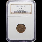 1856 Ngc PR64 Flying Eagle Cent