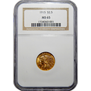 1915 Ngc MS65 $2.50 Indian Gold