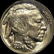 1936-D Ngc MS65 Buffalo Nickel