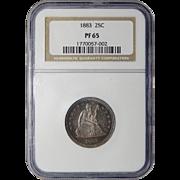 1883 Ngc PF65 Liberty Seated Quarter