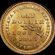1903 Ngc MS63 $1 Louisiana Purchase, McKinley Gold