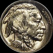1938-D Ngc Buffalo MS66 Buffalo Nickel