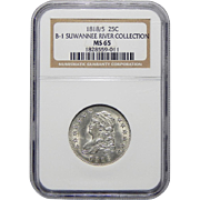 1818/5 Ngc MS65 Capped Bust Quarter
