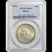 1936 Pcgs MS65 Albany Half Dollar