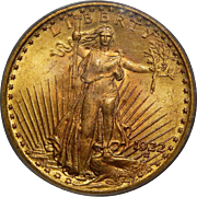 1922 Pcgs MS65 $20 St. Gaudens Gold