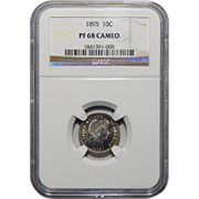 1895 Ngc PF68CAM Barber Dime