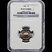 1882 Ngc PF67CAM Shield Nickel