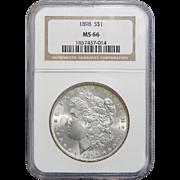 1898 Ngc MS66 Morgan Dollar