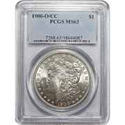 1900-O/CC Pcgs MS63 Morgan Dollar