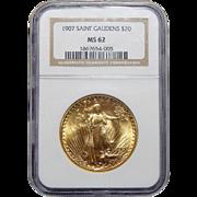 1907 Ngc MS62 $20 Saint Gauden