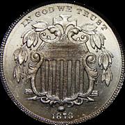 1878 Ngc PF65CAM Shield Nickel