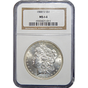 1888-S Ngc MS64 Morgan Dollar