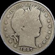 1897-S Pcgs AG3 Barber Half Dollar