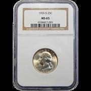 1935-S Ngc MS65 Washington Quarter