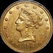 1856-S Ngc AU58 $10 Liberty Head Gold