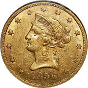 1856-S Ngc AU58 $10 Liberty Head Gold