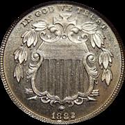 1882 Ngc PF65 Shield Nickel