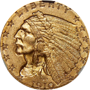 1910 Ngc MS65 $2.50 Indian Gold