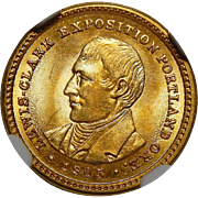1905 Ngc MS65 $1 Lewis and Clark Gold