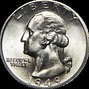 1949-D Ngc MS65 Washington Quarter