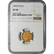 1873-S Ngc XF45 $2.50 Liberty Head Gold