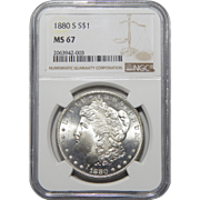 1880-S Ngc MS67 Morgan Dollar